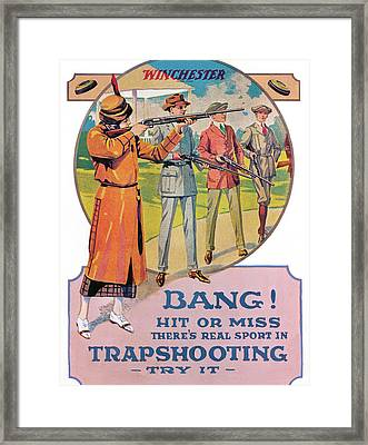 Bang Framed Print by Unknown