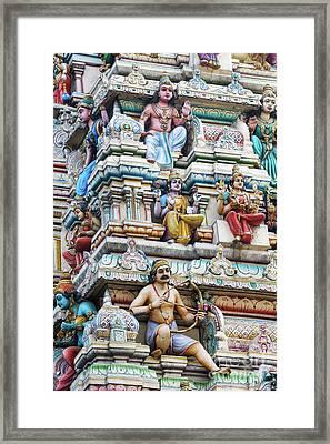 Bangalore Hindu Temple Gopuram  Framed Print
