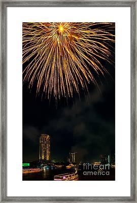 Bangkok Fireworks Framed Print