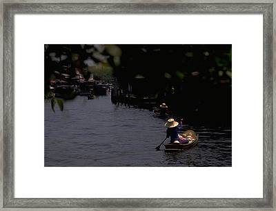 Bangkok Floating Market Framed Print