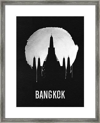 Bangkok Landmark Black Framed Print by Naxart Studio