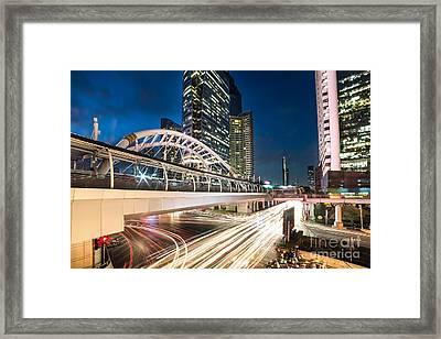 Bangkok Night Rush  Framed Print