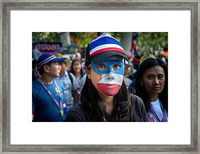 Bangkok Shutdown Framed Print
