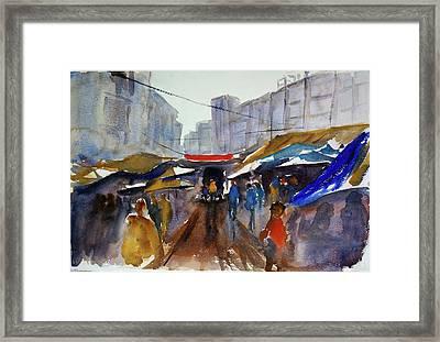 Bangkok Street Market Framed Print