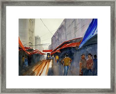 Bangkok Street Market2 Framed Print