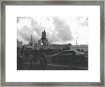 Bangkok, Thailand In The Time Of Mourning Framed Print by Sirikorn Techatraibhop