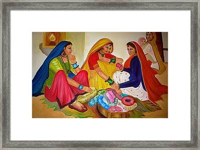 Bangle Seller Framed Print