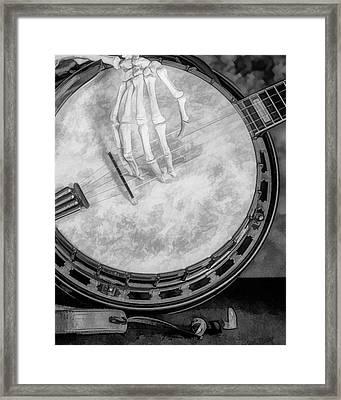 Banjo Addiction Framed Print
