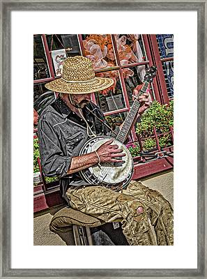 Banjo Man Orange Framed Print