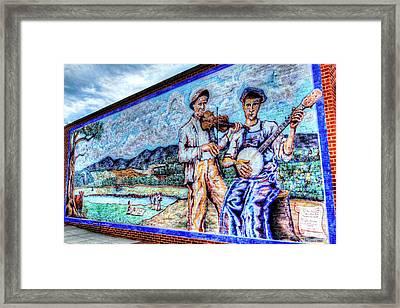 Banjo Mural Framed Print by Dale R Carlson
