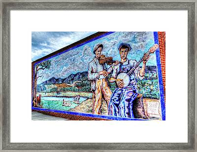 Banjo Mural Framed Print