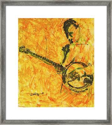 Banjo Player Framed Print by Richard Wynne