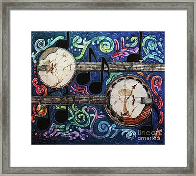 Banjos Framed Print by Sue Duda
