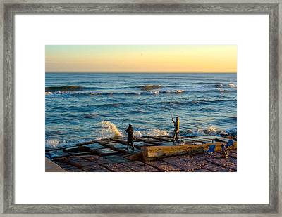 Bank Fishing Framed Print