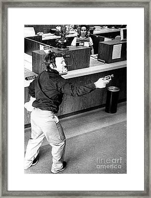 Bank Holdup, 1973 Framed Print by Granger