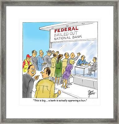 Bank Loans Framed Print by David Lloyd Glover