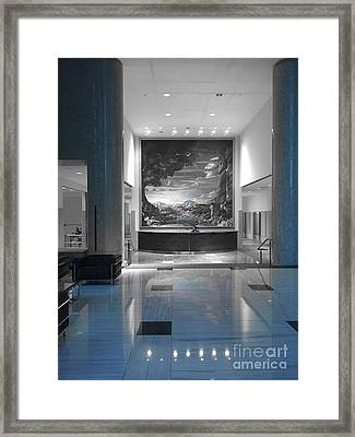 Bank Lobby Framed Print by Jenny Revitz Soper