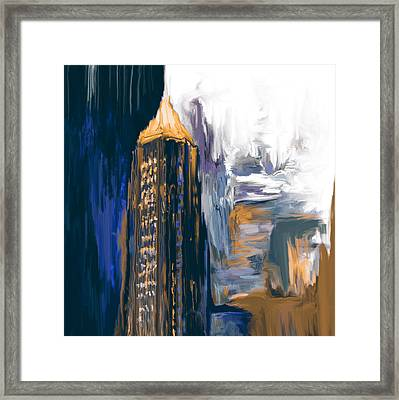 Bank Of America Plaza 230 3  Framed Print by Mawra Tahreem
