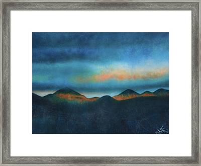 Bank Of Passing Clouds Framed Print by Robin Street-Morris