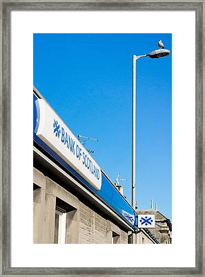 Bank Of Scotland Framed Print by Tom Gowanlock
