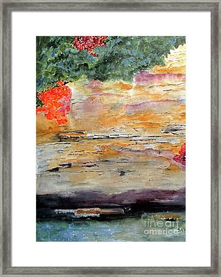 Framed Print featuring the painting Bank Of The Gauley River by Sandy McIntire