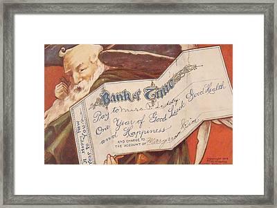 Bank Of Time Framed Print by Anna Villarreal Garbis