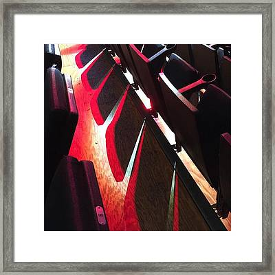 Bank United Center Chairs #miami Framed Print