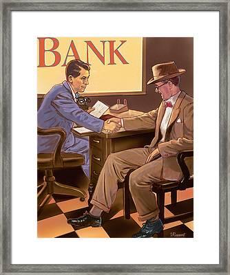 Banker Framed Print