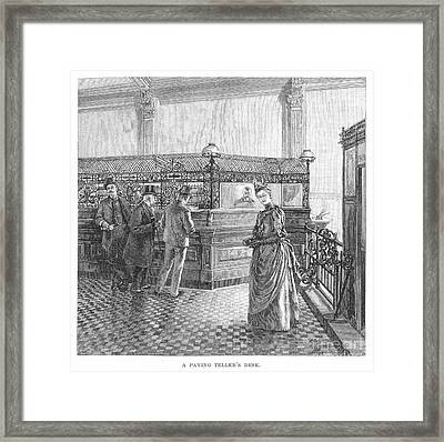 Banking, 19th Century Framed Print by Granger
