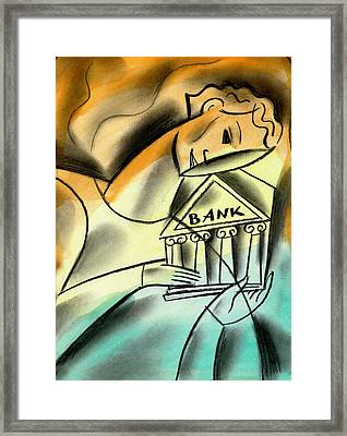 Banking Framed Print by Leon Zernitsky