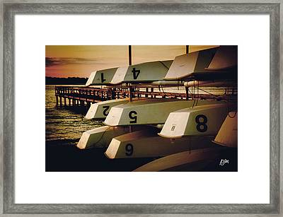 Framed Print featuring the photograph Banks Channel Boat Stack by Phil Mancuso