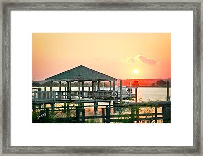 Framed Print featuring the photograph Banks Channel Sunset by Phil Mancuso