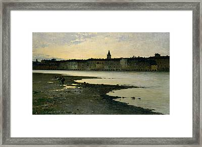 Banks Of River Adige Framed Print