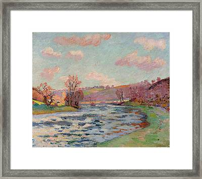 Banks Of The Creuse Framed Print by Jean Baptiste Armand Guillaumin