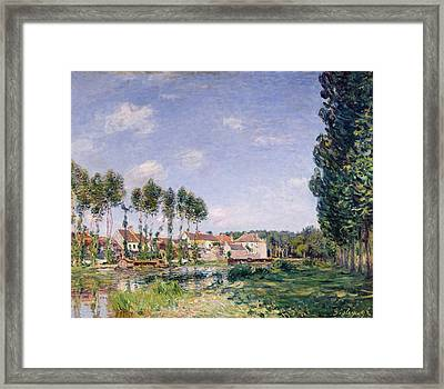 Banks Of The Loing Framed Print by Alfred Sisley