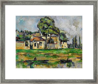 Banks Of The Marne Framed Print