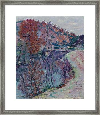 Banks Of The Sedelle Framed Print by MotionAge Designs