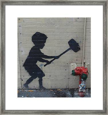 Banksy In New York Framed Print