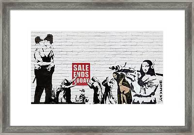 Banksy - Saints And Sinners   Framed Print