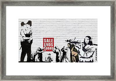 Banksy - The Tribute - Saints And Sinners Framed Print by Serge Averbukh