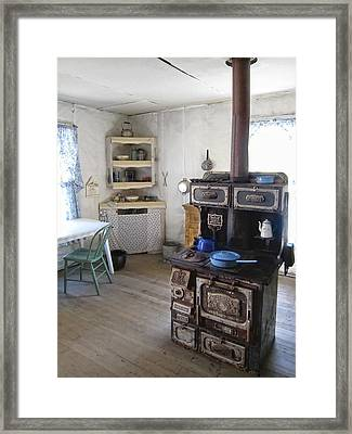 Bannack Ghost Town  Kitchen And Stove - Montana Territory Framed Print by Daniel Hagerman