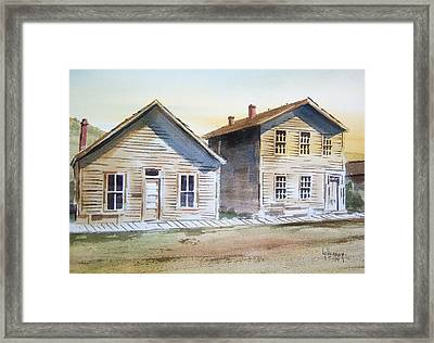 Bannack Ghost Town Montana Framed Print by Kevin Heaney