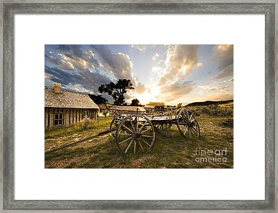 Bannack Montana Ghost Town Framed Print by Bob Christopher