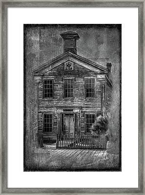Bannack School  Framed Print
