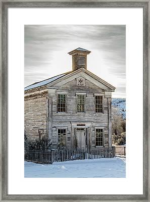 Bannack Schoolhouse And Masonic Temple Framed Print by Teresa Wilson