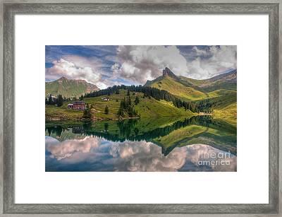 Bannalpsee Framed Print by Caroline Pirskanen