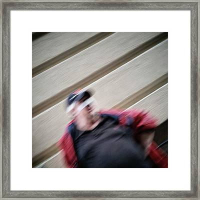 Banned Face #portrait #motion Framed Print