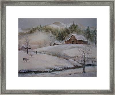 Banner Elk Winter Framed Print by Charles Roy Smith
