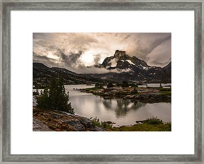 Banner Peak In A Clearing Storm Framed Print