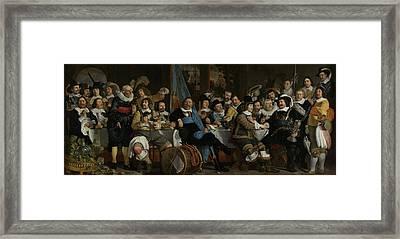 Banquet At The Crossbowmen's Guild Framed Print